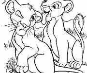 Coloring pages The little lions Disney