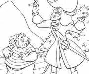Coloring pages Captain Hook and Mrs. Smee