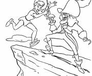 Coloring pages Peter and Captain Hook