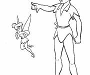 Coloring pages Peter and the Tinkerbell