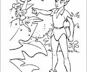 Coloring pages Peter Pan scolds Tinker Bell the fairy