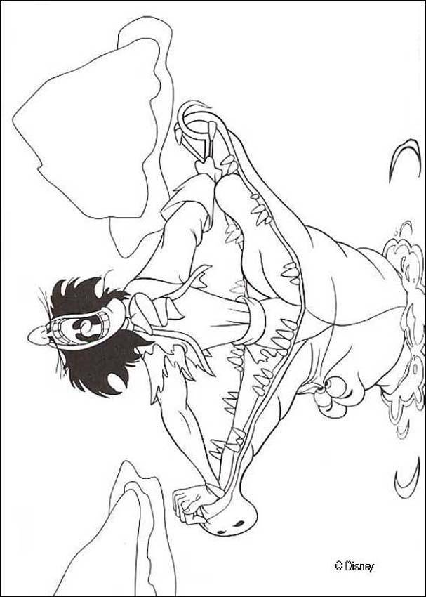 Free coloring and drawings The crocodile and Peter Pan Coloring page