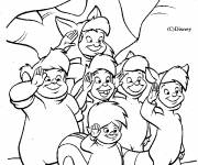 Coloring pages The Lost Children of Peter Pan