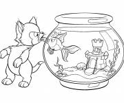 Coloring pages Figaro and Cleo