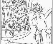 Coloring pages Pinocchio and the Blue Fairy