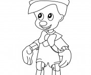 Coloring pages Pinocchio simple