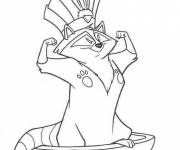 Coloring pages Meeko as a tribal chief