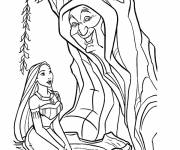 Coloring pages Pocahontas and Grandmother Willow