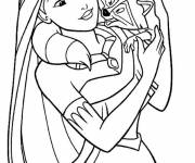 Coloring pages Pocahontas
