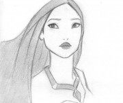 Coloring pages Pocahontas simple