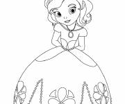 Coloring pages Easy princess sofia