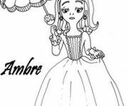 Coloring pages Princess Sofia and Amber