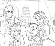 Coloring pages Princess Sofia and her family