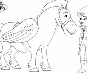 Coloring pages Princess Sofia and the flying horse