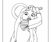 Coloring pages Rapunzel is scared
