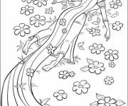 Coloring pages Rapunzel is thrilled