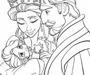 Coloring pages Rapunzel with her parents
