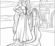 Coloring pages The gorgeous Rapunzel Tangled