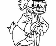 Coloring pages Scrooge is very angry