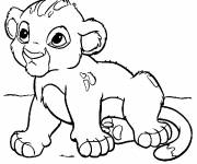 Coloring pages Baby Simba