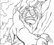 Coloring pages The lion king and the death of Mufasa