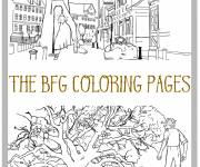 Free coloring and drawings The adventures of the good big giant Coloring page