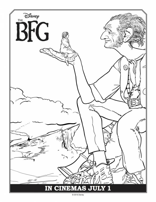 Free coloring and drawings The good big giant Disney  Coloring page