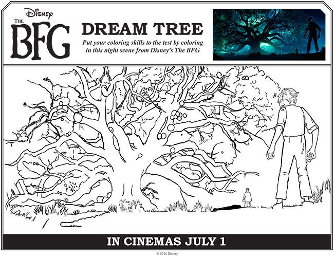 Free coloring and drawings The good big giant in front of the tree Coloring page
