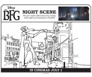 Coloring pages The good big giant in the city