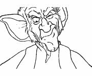 Free coloring and drawings The good big giant, simple portrait Coloring page