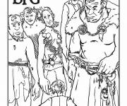Free coloring and drawings The good big giant surrounded by other giants Coloring page