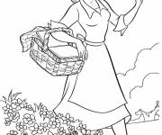 Coloring pages Tiana in the wild