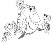 Coloring pages Dory and her friends