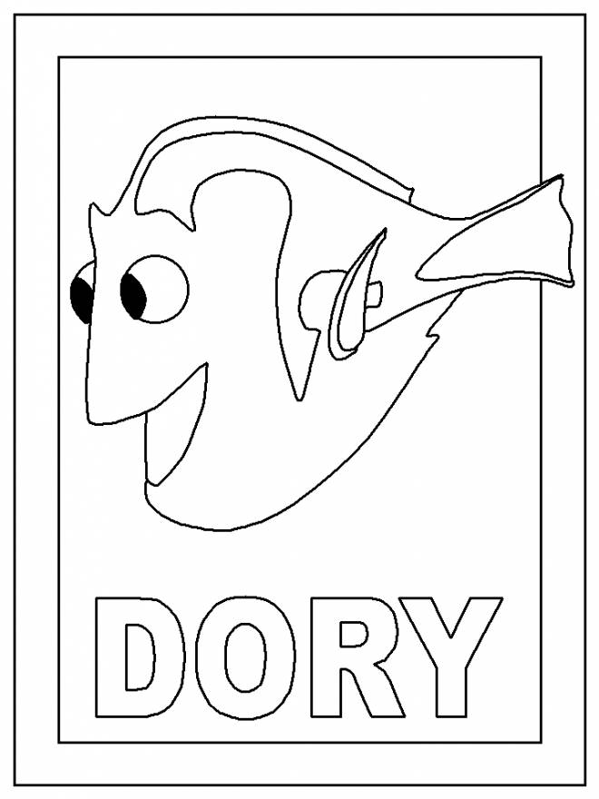 Free coloring and drawings The world of Dory cartoons Coloring page