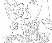 Coloring pages Fairy tinkerbell cooking