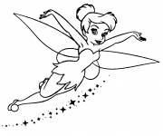 Coloring pages Fairy tinkerbell to cut