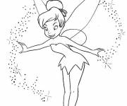 Coloring pages Tinkerbell does magic