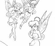 Coloring pages Vidia, Silvermist and Iridessa