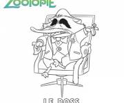 Free coloring and drawings Zootopia the boss Coloring page