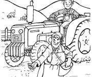 Coloring pages Agricultural activities