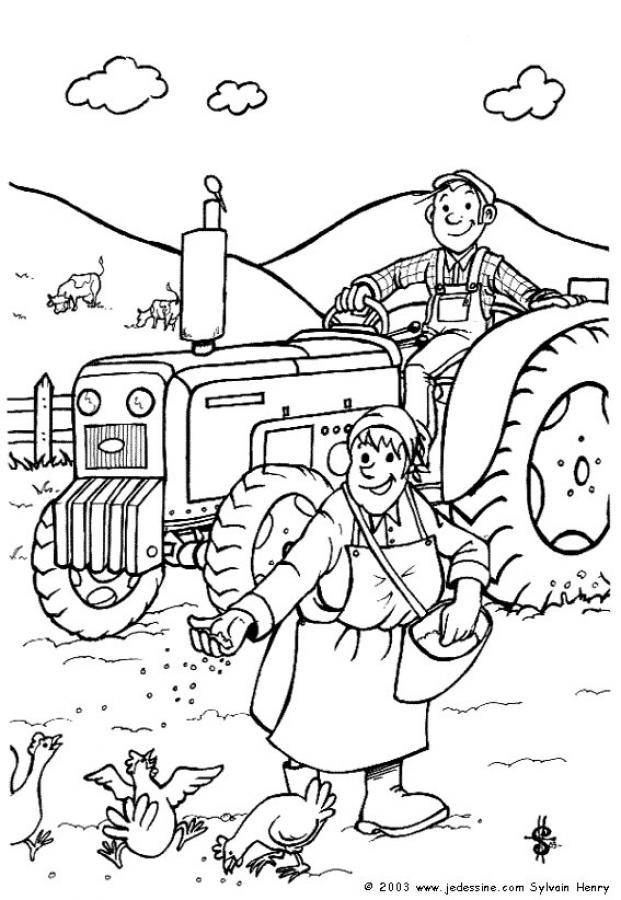 Free coloring and drawings Agricultural activities Coloring page