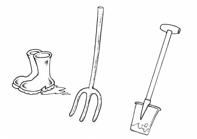 Free coloring and drawings Agricultural equipment Coloring page