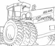 Coloring pages Agriculture Chopping machine