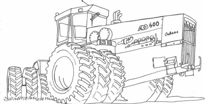 Free coloring and drawings Agriculture Chopping machine Coloring page