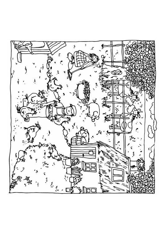 Free coloring and drawings Agriculture Farm Coloring page