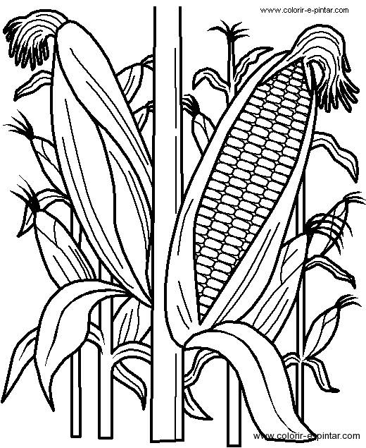Free coloring and drawings Agriculture in black Coloring page