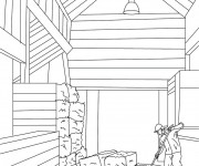 Free coloring and drawings Agriculture Le Stable Coloring page
