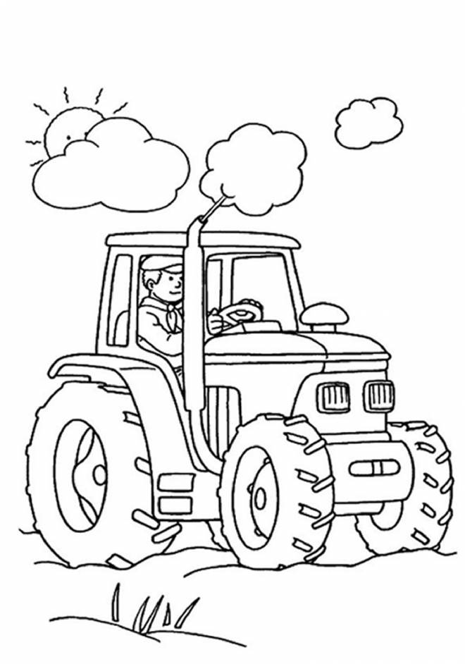 Free coloring and drawings Almighty tractor Coloring page
