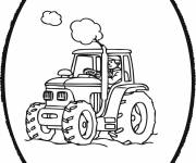 Free coloring and drawings Circled tractor Coloring page