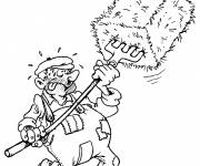 Free coloring and drawings Color farmer Coloring page